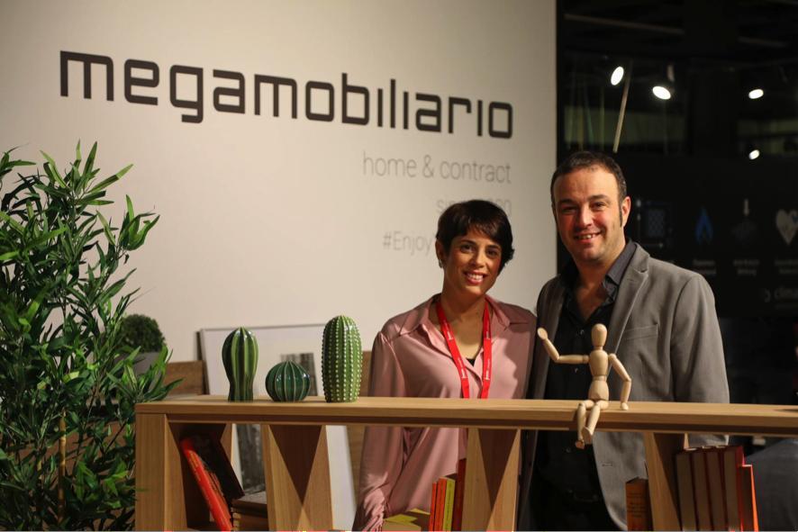 María García y Vicente Vila, segunda generación de Mega Mobiliario.