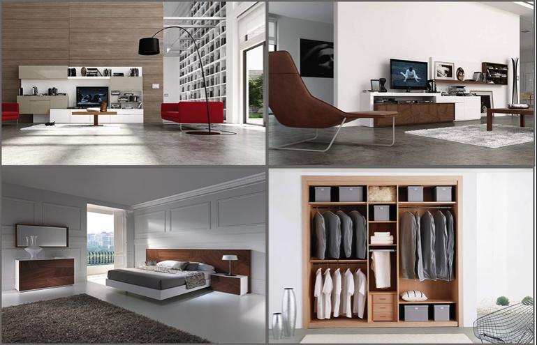 Salones y dormitorios fabricados por Mega Mobiliario.
